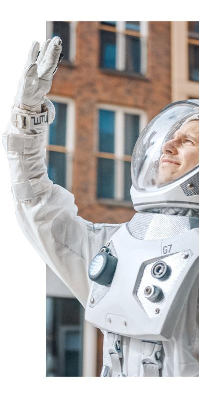 Illustration astronaute pour Bizzz - Verticale 01